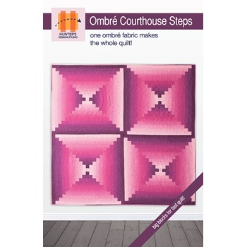 Ombre Courthouse Quilt Pattern by Sam Hunter