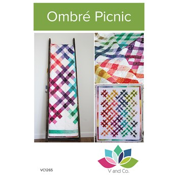 Ombre Picnic Quilt Pattern by V and Co