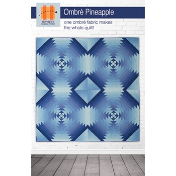 Ombre Pineapple Quilt Pattern by Sam Hunter
