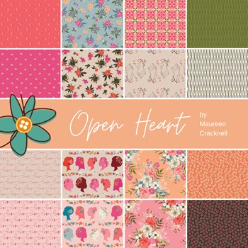 Open Heart Half Yard Bundle | Maureen Cracknell | 16 SKUs
