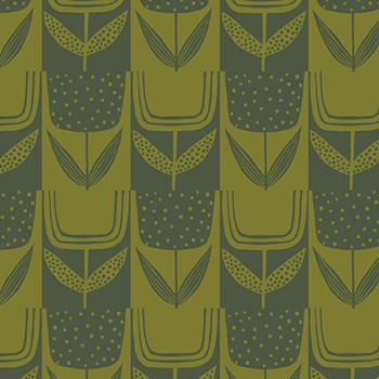Patchwork Tulips - Olive