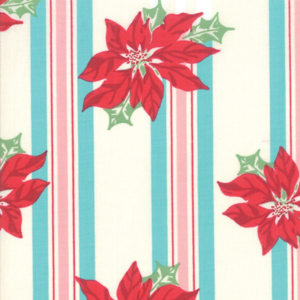 Poinsettia Stripe - Coolmint