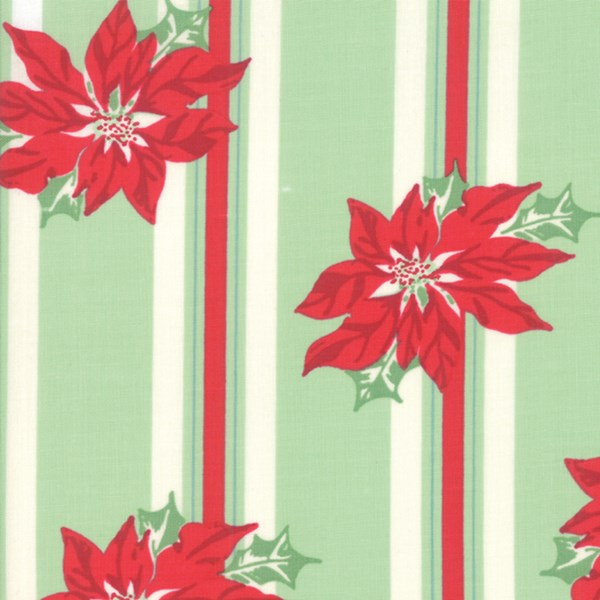 Poinsettia Stripe - Spearmint