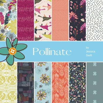Pollinate Fat Quarter Bundle | Jessica Swift | 12 FQs