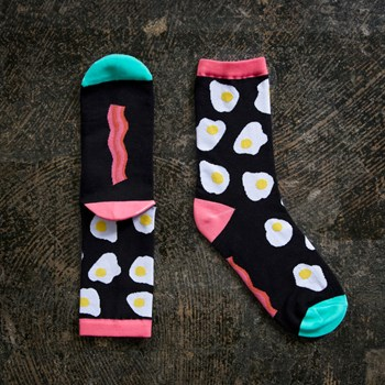 Ruby Star Society Socks - Bacon and Eggs Socks