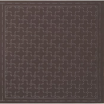 Sashiko Pre-Printed Cloth - Juji-tsunagi Brown