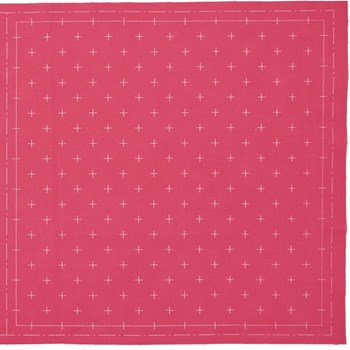 Sashiko Pre-Printed Cloth - Kasuri Rose
