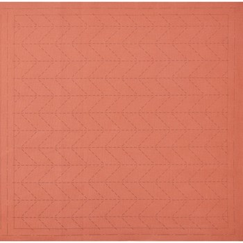 Sashiko Pre-Printed Cloth - Sugiaya Orange