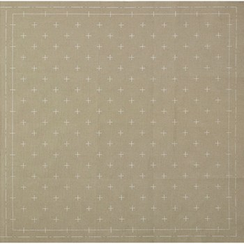 Sashiko Pre-Printed Cloth - Kasuri Gray