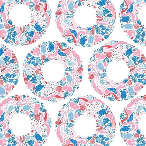 Sea Wreath in Pink Multi