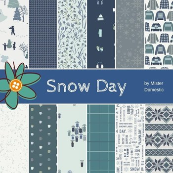 Snow Day Fat Quarter Bundle | Mister Domestic | 12 FQs