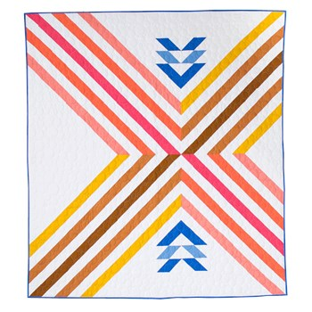Stripe Crossing Quilt Pattern by Then Came June
