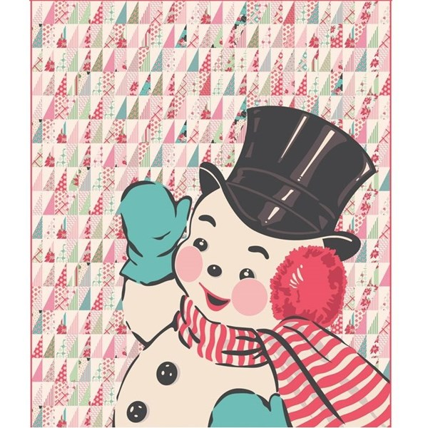 Sweet Christmas Snowman Quilt Kit