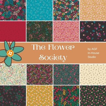 The Flower Society Half Yard Bundle | AGF In-House Studio | 16 Half Yards