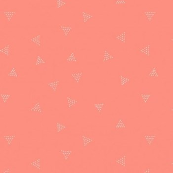 Triangle Dot - Coral