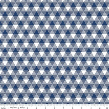 Triangle Gingham - Navy