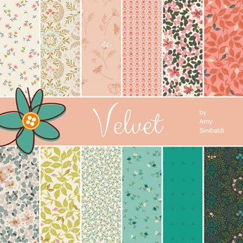 Velvet Fat Quarter Bundle | Amy Sinibaldi | 12 FQs