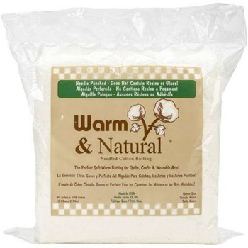 "Warm & Natural Batting - Queen Size (90""x 108"")"