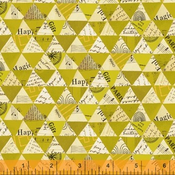 Wish Collaged Triangles - Olive Oil