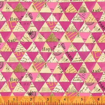 Wish Collaged Triangles - Hot Pink