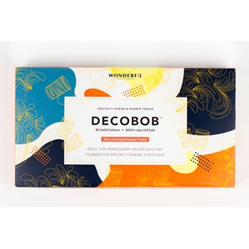 Wonderfil DecoBob Boxed Set | 36 Colors | 400m Spools