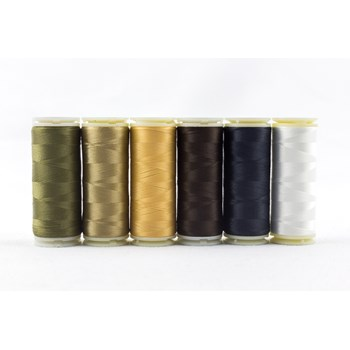 Wonderfil InvisaFil Mini Pack | 6 Colors | 400m Spools - Neutral