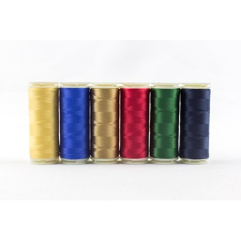 Wonderfil InvisaFil Mini Pack | 6 Colors | 400m Spools - Holiday