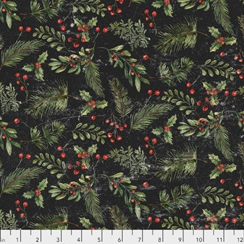 Yuletide Festive Greens - Black